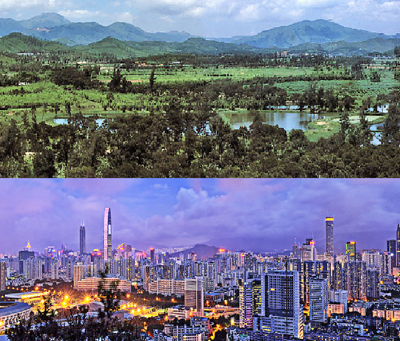 China - Shenzhen 1980 and today