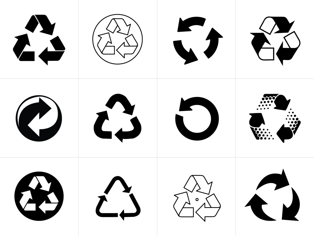 Recycling Arrow Sign Symbols Hunter Luxury